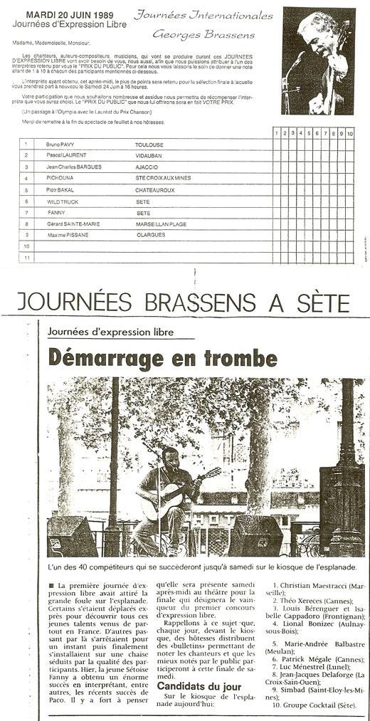 Piotr Bakal - festiwal Journées Internationales Georges Brassens w Sete