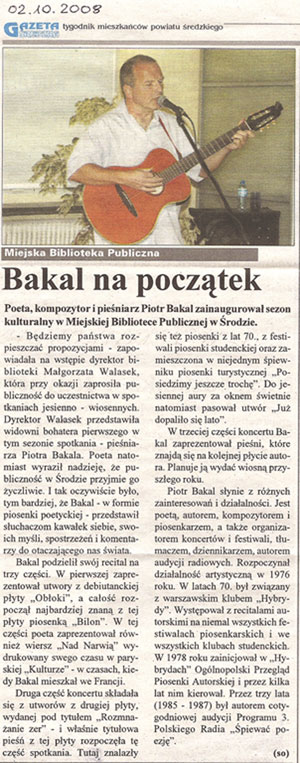 Piotr Bakal - Gazeta Średzka 2008