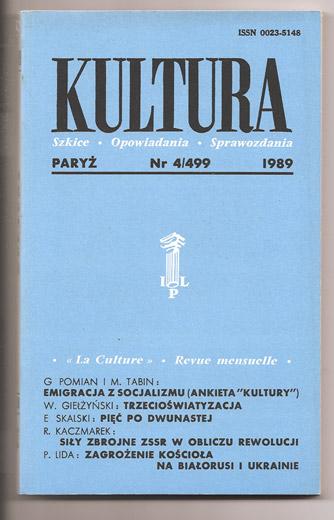 Numer paryskiej Kultury z tekstem Piotra Bakala Nad Narwią