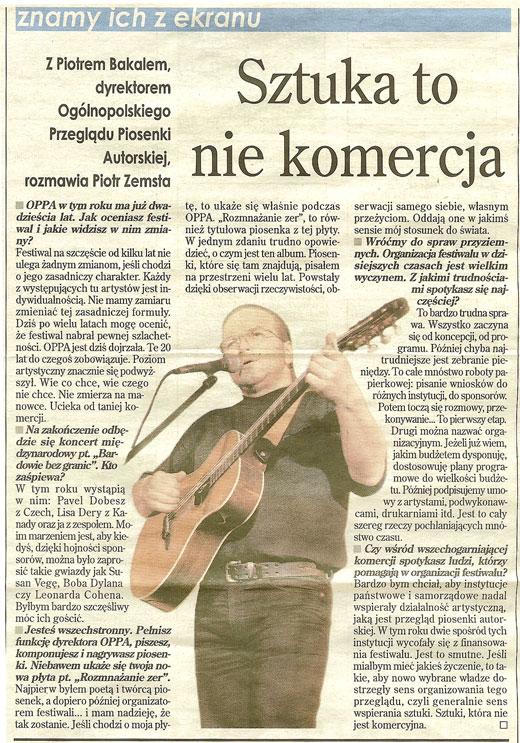 Piotr Bakal - Życie Warszawy 2002
